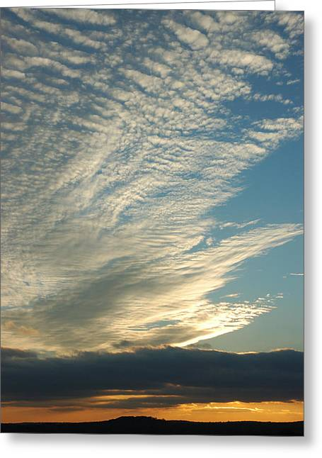Skys Greeting Cards - Hi Rise Greeting Card by Robert Anschutz