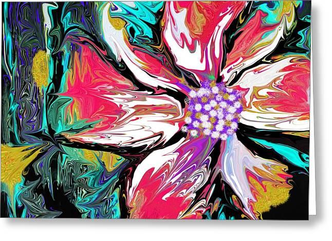 Floral Digital Art Paintings Greeting Cards - Hibiscus Greeting Card by David Raderstorf