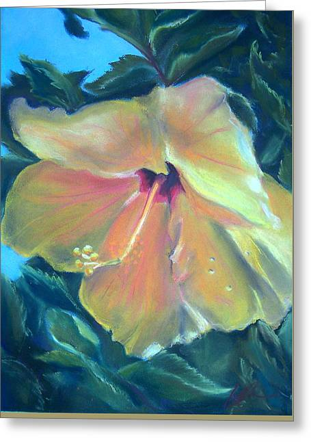 Hibiscus Greeting Card by Lisa Ikegami