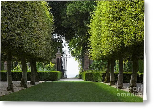Hidcote Garden Greeting Card by Brian Jannsen