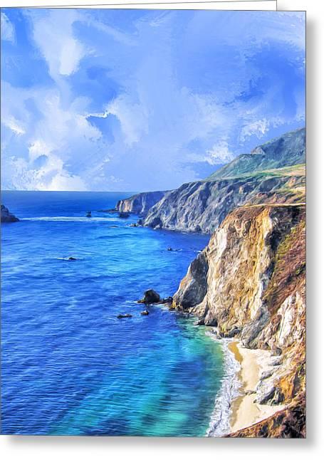 Big Sur Greeting Cards - Hidden Beach at Big Sur Greeting Card by Dominic Piperata