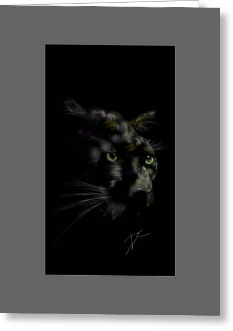 Expressiveness Greeting Cards - Hidden Cat Greeting Card by Darren Cannell
