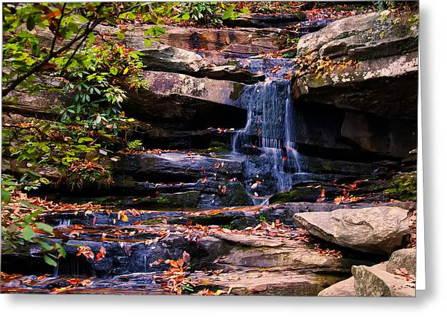 Waterfall Image Greeting Cards - Hidden Falls 5 Greeting Card by Chris Flees