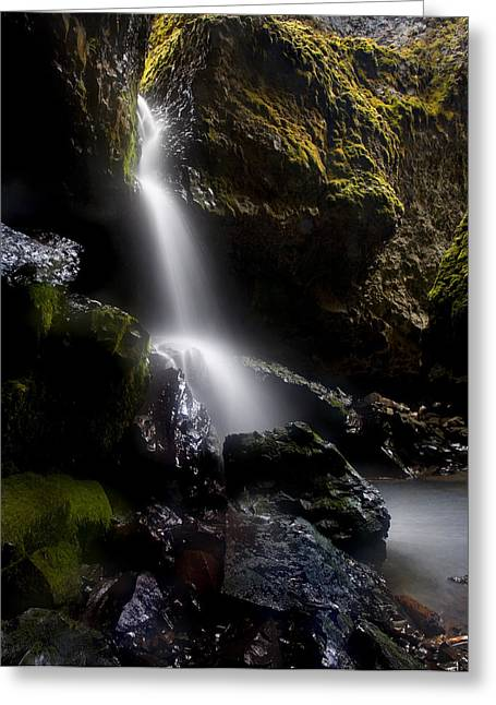 Waterfall Greeting Cards - Hidden Falls Greeting Card by Mike  Dawson