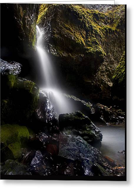 Caves Greeting Cards - Hidden Falls Greeting Card by Mike  Dawson