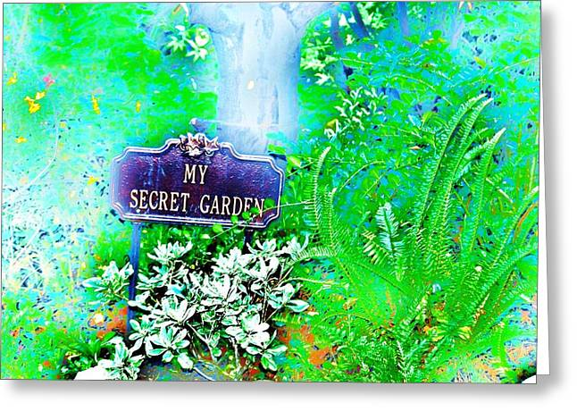 Secret Gardens Greeting Cards - Hidden Fantasy Greeting Card by Helen Carson