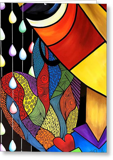 Abstract Style Greeting Cards - Hidden Heart Greeting Card by Pam Reinke