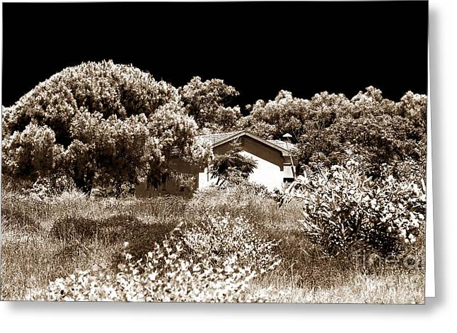 Pafos Greeting Cards - Hidden House Greeting Card by John Rizzuto