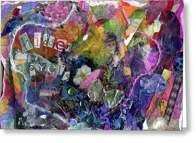 Healing Trauma Greeting Cards - Hidden Layers original Greeting Card by Cassandra Donnelly