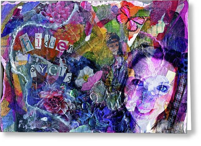 Healing Trauma Greeting Cards - Hidden Layers photoshop version Greeting Card by Cassandra Donnelly