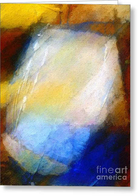 Abstract Field Greeting Cards - Hidden Light Greeting Card by Lutz Baar