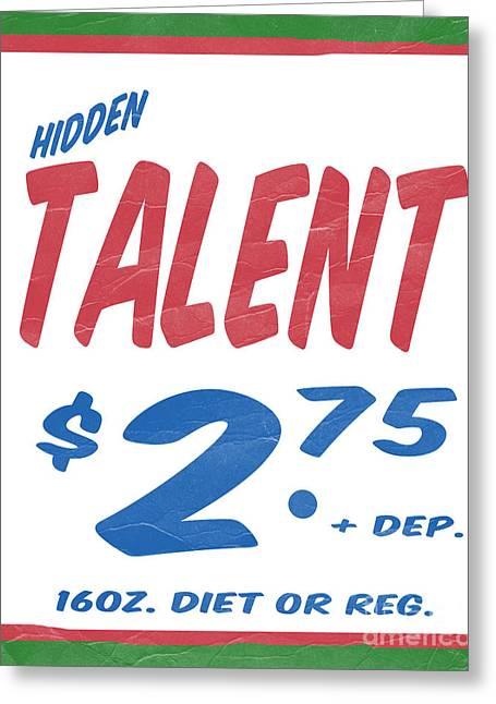 Supermarket Greeting Cards - Hidden Talent Supermarket Series Greeting Card by Edward Fielding