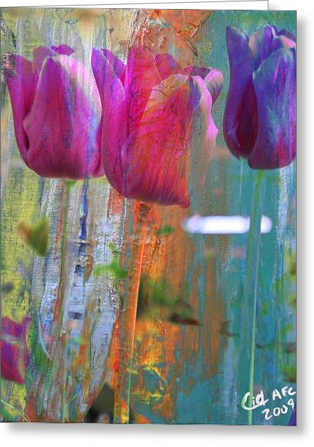 Hidden Tulips Greeting Card by  Cid