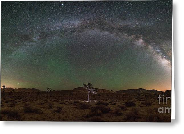 Hidden Valley Milky Way Pano Greeting Card by Michael Ver Sprill