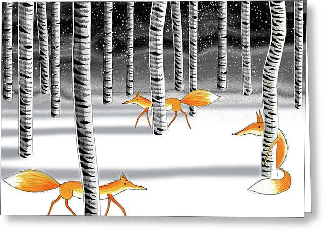 Hide And Seek  Greeting Card by Andrew Hitchen