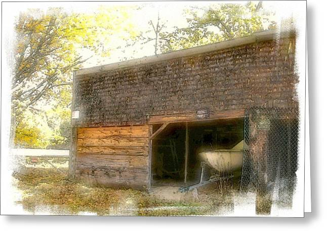 Shed Digital Greeting Cards - Hide And Seek Greeting Card by Rose Guay