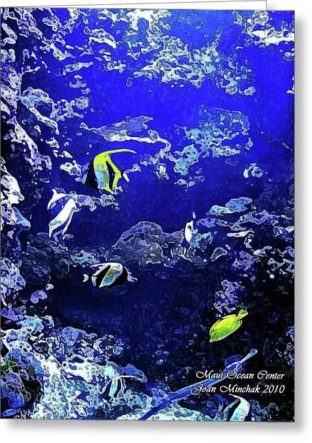 Snorkel Greeting Cards - Hiding Fish Greeting Card by Joan  Minchak