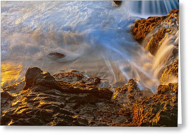 Baja California Greeting Cards - High Angle View Of Surf On The Coast Greeting Card by Panoramic Images