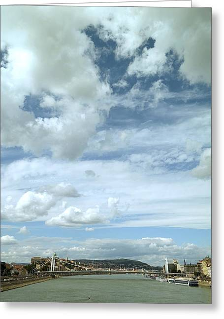 River View Greeting Cards - High Cloudy Sky Greeting Card by Attila Pinter