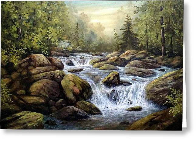 Tennessee River Paintings Greeting Cards - High Country Paradise Greeting Card by James Potter