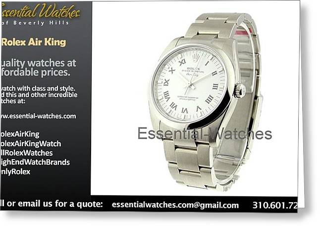 Men Jewelry Greeting Cards - High End Watch Brands Greeting Card by Aleisha Green