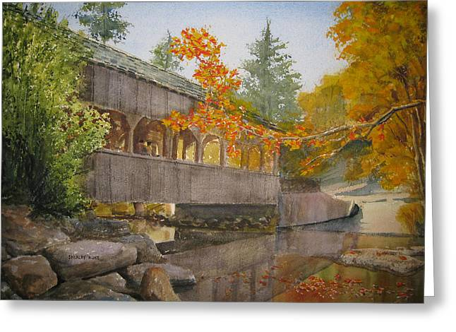 High Falls Bridge Greeting Card by Shirley Braithwaite Hunt