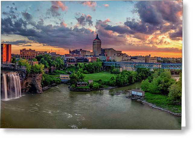 High Falls Gorge Greeting Cards - High Falls Panorama Greeting Card by Mark Papke