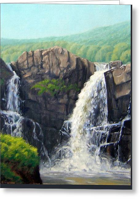 Plain Air Artist Greeting Cards - High Falls Greeting Card by Rick Hansen