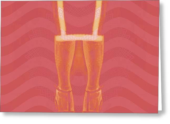 Color Enhanced Greeting Cards - High Fashion Greeting Card by Caroline Gilmore