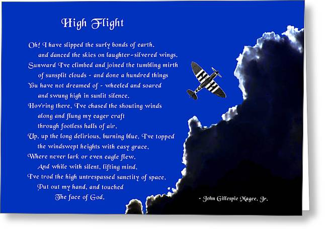 High Flight Greeting Card by Mike Flynn