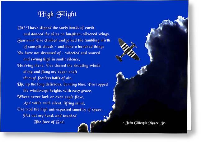Mike Flynn Greeting Cards - High Flight Greeting Card by Mike Flynn