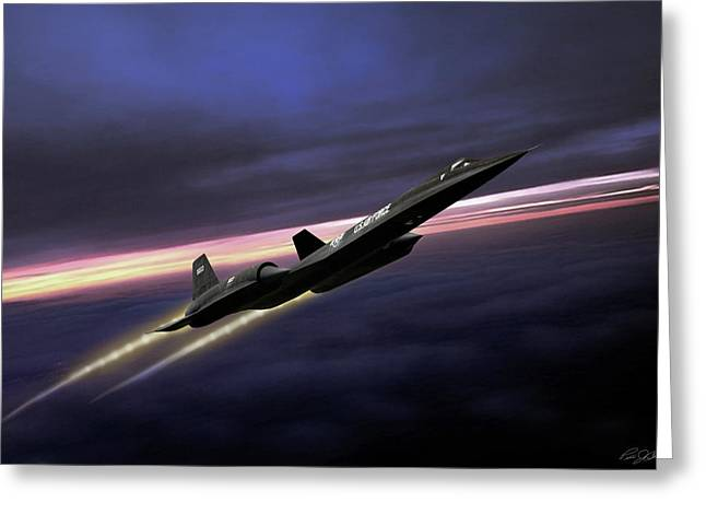 High Flight Greeting Card by Peter Chilelli