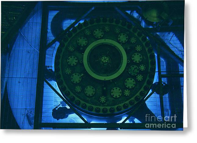 Neutron Greeting Cards - High Flux Isotope Reactor Pool Greeting Card by Science Source