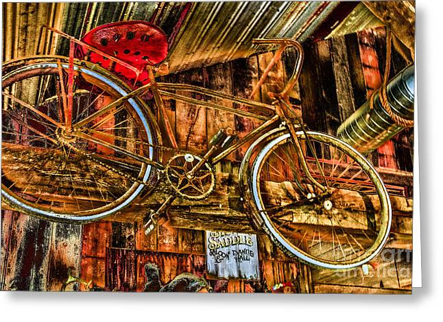Red Roofed Barn Greeting Cards - High Flyer Greeting Card by William Norton