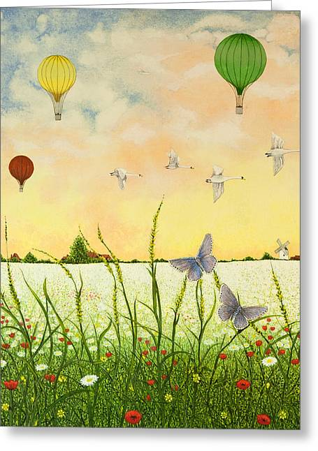 High Flyers Greeting Card by Pat Scott