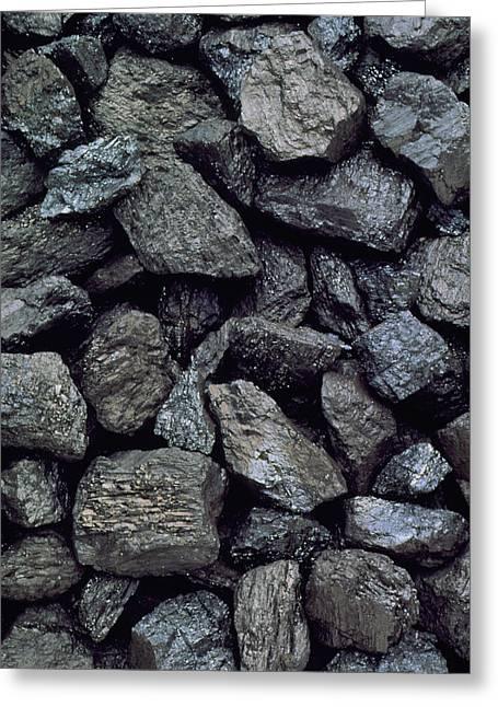 Anthracite Greeting Cards - High-grade, Low-sulphur Coal From British Columbia Greeting Card by Kaj R. Svensson