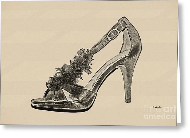 First Love Greeting Cards - High Heels - Black Greeting Card by Claudia  Ellis