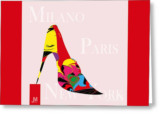 High Heels Abstract Art Greeting Cards - High Heels Fashion Greeting Card by Johannes Murat