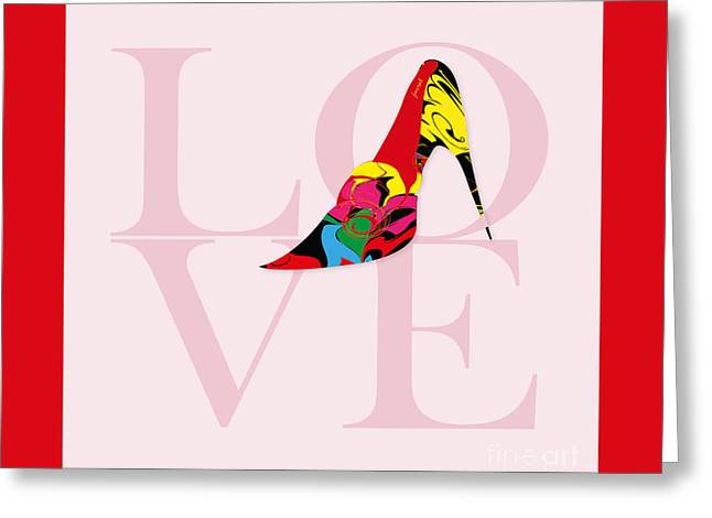 High Heels Abstract Art Greeting Cards - High Heels Lover Greeting Card by Johannes Murat