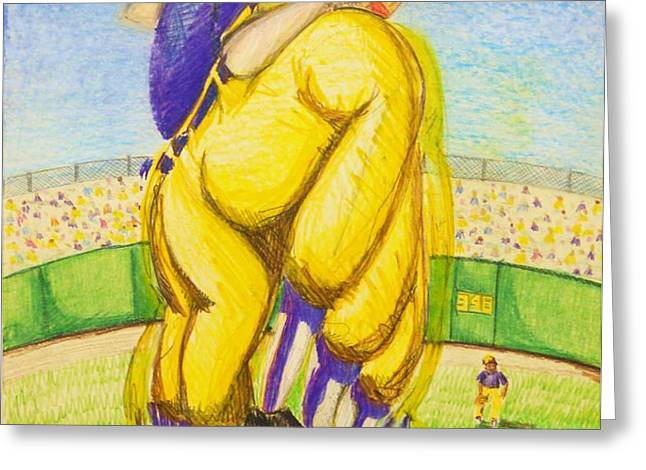 High Leg Kick Greeting Card by Jame Hayes