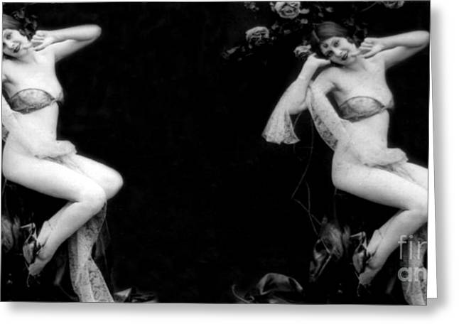 Racy Greeting Cards - High Lights And Shadows, Nude Model Greeting Card by Science Source