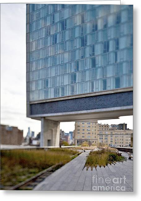 Office Space Greeting Cards - High Line Park and Hotel Greeting Card by Eddy Joaquim