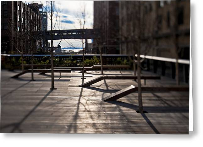 Office Space Greeting Cards - High Line Park Greeting Card by Eddy Joaquim