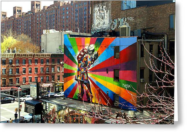 Chelsea Digital Art Greeting Cards - High Line Street Art Greeting Card by Jeffrey Saraceno