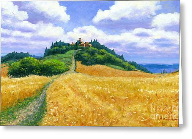 High Noon Tuscany  Greeting Card by Michael Swanson
