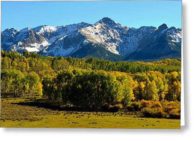 """high Peaks"" Greeting Cards - High peaks of the San Juan Mountains Greeting Card by David Lee Thompson"