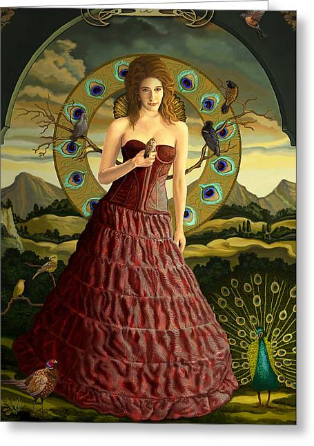 Goddess Print Greeting Cards - High Priest Greeting Card by Pamela Wells