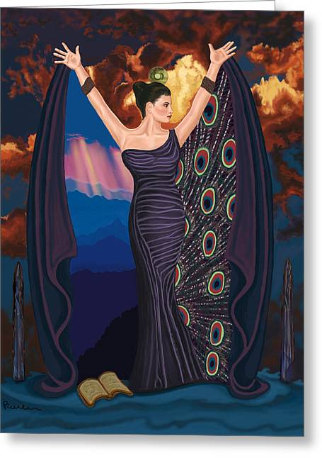 Goddess Print Greeting Cards - High Priestess Greeting Card by Pamela Wells