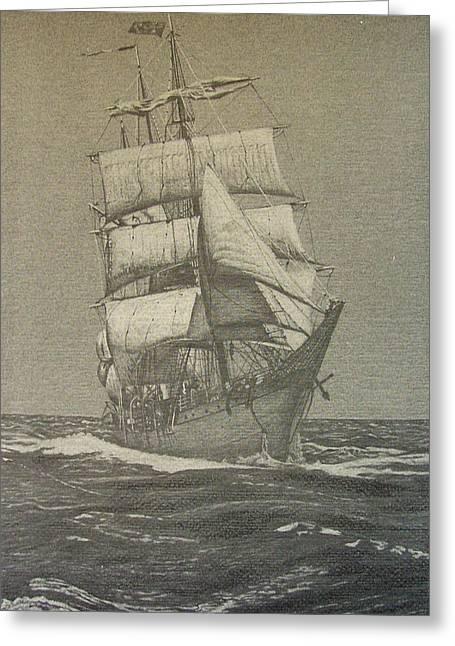 High Seas Greeting Card by Dan Hausel
