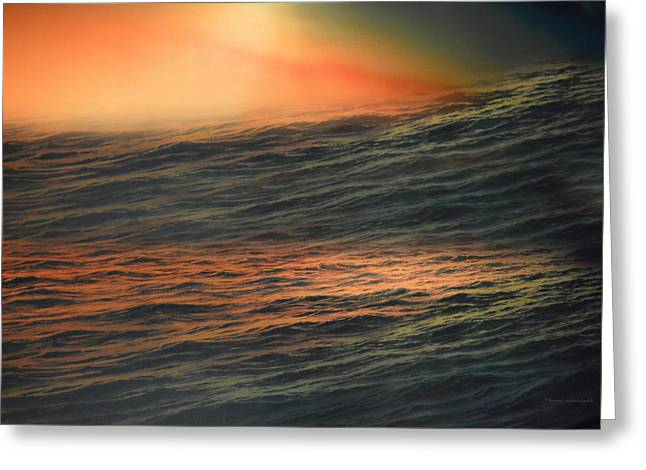Tsunami Mixed Media Greeting Cards - High Seas Textured Greeting Card by Thomas Woolworth